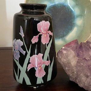 🎉5/20 SALE🎉Vintage Black Floral Ceramic Bud Vase